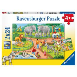 Puzzle Ein Tag im Zoo 2x24 Teile