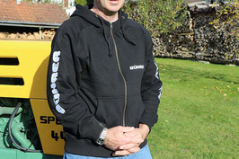 Bührer Sweat-Jacke mit Kapuze schwarz