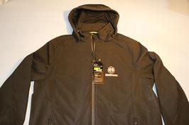 Jacke mit Kapuze Hürlimann Logo und Schrift vorne+hinten
