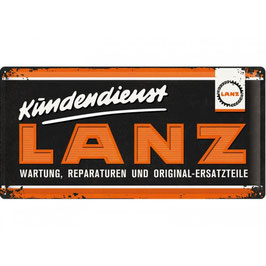 Blechschild Kundendienst Lanz