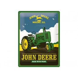 "Blechschild John Deere Tin Sign ""Made with Pride"""