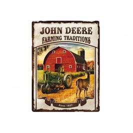 Blechschild John Deere  - Farming Traditions