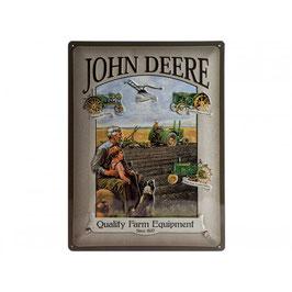 Blechschild John Deere Grandfather
