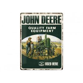Blechschild John Deere Quality Farm
