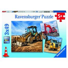 Puzzle Baufahrzeuge im Einsatz 3x49
