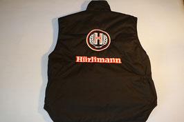 Weste Hürlimann Logo und Schriftzug