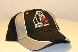 Cap mit Logo und Schriftzug Schlüter (Cap schwarz/grau)