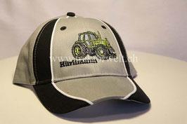 Cap grau/schwarz mit Motiv Hürlimann H-6160