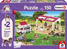 Reitschule und Tierärztin - Puzzle 150 Teile