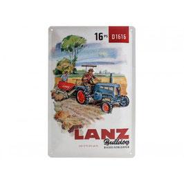 Blechschild Lanz Bulldog 16PS D1616