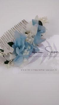 "Peigne fleuri ""Azurine""."