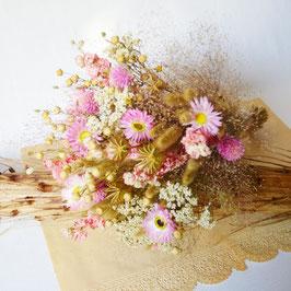 """Bouquet de fleurs séchées """" Guimauve """""""