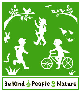 Be Kind People Nature ステッカー&缶バッチ