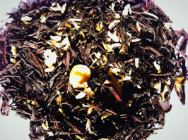 Zwarte thee melange met kokos en amandel