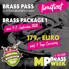 Brass Week Package 1 mit Camping