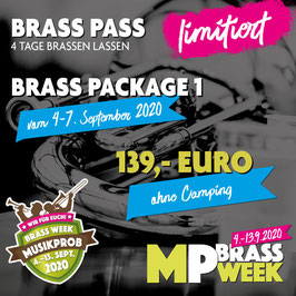 Brass Week Package 1 ohne Camping