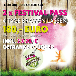 4 Tage FESTIVAL-PASS  OHNE CAMPING OSTER SPECIAL