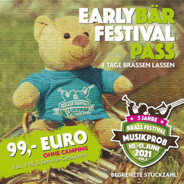 4 Tage FESTIVAL-PASS  OHNE CAMPING