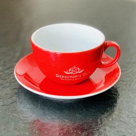 Director's Cut - Original Milchkaffee Tasse 0,35l graviert mit Untertasse
