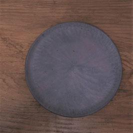 商品名 きりかぶプレート小 黒 平皿