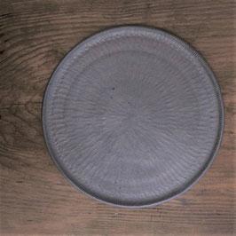 商品名 きりかぶプレート大 黒 平皿