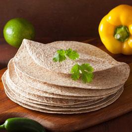 Tortillas Wraps blé complet pour Burritos & Durum (Diamètre 25cm) x 18
