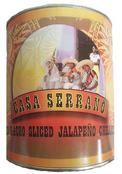 Piments Jalapeño rouges en rondelles - boîte 3Kg