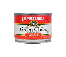 La Preferida - Piments Verts Entiers Grillés & Pelés