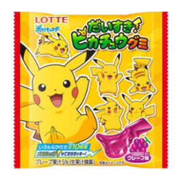 Lotte Love Pikachu Bonbons au raisin