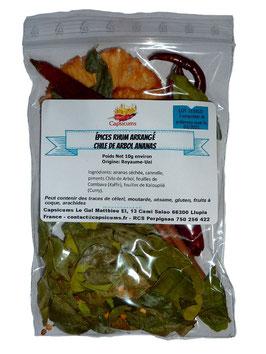Épices Rhum Arrangé Chile de Arbol Ananas