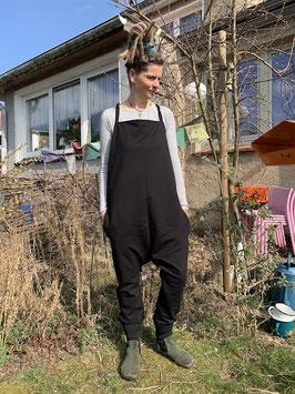 Froeken Frida Pump-Latzhose schwarz, BIO