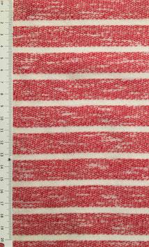 (Kuschel)Jersey - Streifen rot