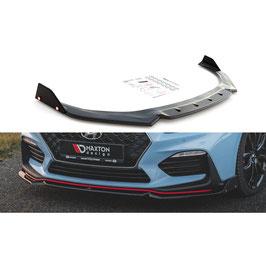 Cup Spoilerlippe Front Ansatz + Flaps V.6 für Hyundai I30 N Mk3 Hatchback/Fastback