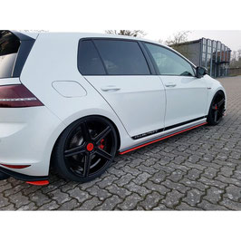 Seitenschweller Ansatz Cup Leisten für VW GOLF Mk7 GTI CLUBSPORT