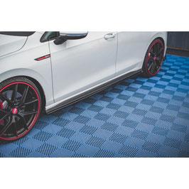 Seitenschweller Ansatz Cup Leisten für Volkswagen Golf 8 GTI