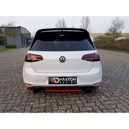 Mittlerer Cup Diffusor Heck Ansatz für VW GOLF Mk7 GTI CLUBSPORT