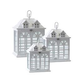 Set 3 lanterne legno(GRANDE Cm40X30X58H)