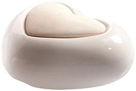 Millefiori Milano Lovely Fiore diffusore, Ceramica, Bianco, 11.7 x 11.8 x 17.7 cm