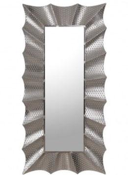 Specchio traforato nichel metallo 152 x 75 x 5 cm