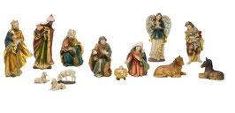 PRESEPE 13 PZ RESINA (MADONNA CM 16)