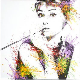 QUADRO AUDREY E MARILYN multicolor canvas 60 x 3,40 x 60 cm