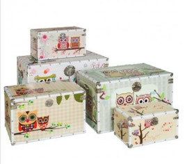 Set bauli gufo multicolor