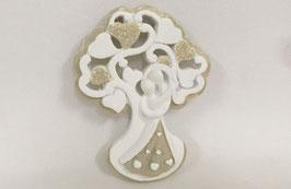 24 Magnete albero della vita con coppia di sposi in resina smaltata a mano 5x1x6CM
