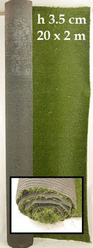 Rotolo di Erba Sintetica 20m x 2m x H3,5cm