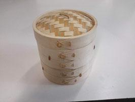 Vaporiera in bamboo 3 parti diametro 15cm