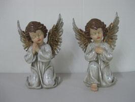 2 Statuine angeli in ginocchio natale GR. cm 21x17x30,5