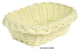 20 Cestine PLASTICA mini bianco rett cm 18x13,5x6