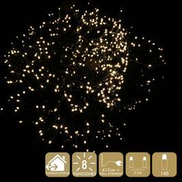 140 LUCI LED 8 FUNZIONI (DIVERSI COLORI)