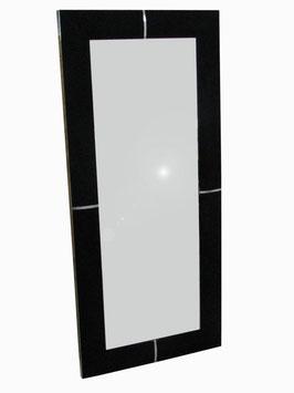 SPECCHIERA ECOPELLE cm136X6X62 NERO/ARGENTO