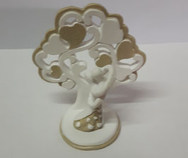 24 Alberi della vita con coppia di sposi dorato/piccolo in resina smaltata a mano6x3.5x7 cm